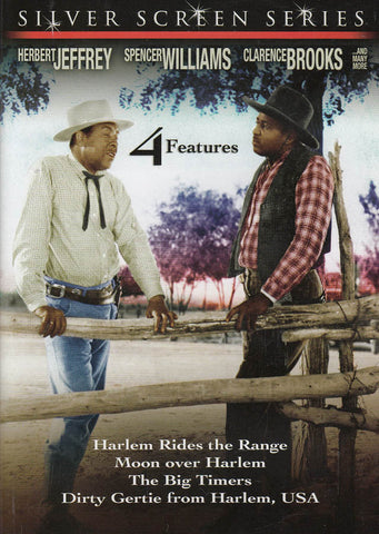 4 Feature Films - Harlem Rides the Range/Moon Over Harlem/Big Timers/Dirty Gertie From Harlem USA DVD Movie
