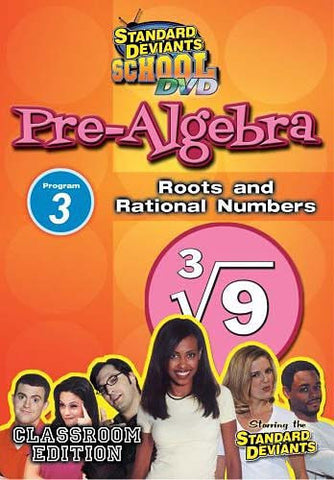 Standard Deviants School - Pre-Algebra Module 3: Roots and Rational Numbers DVD Movie