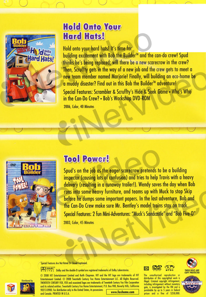 dbee5696b Bob The Builder - Hold on to Your Hard Hats/Tool Power (Kids Double ...