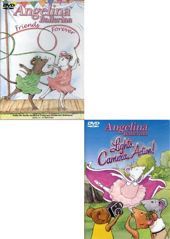 Angelina Ballerina: Lights, Camera, Action!/Friends Forever (2 Pack) DVD Movie