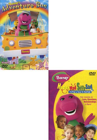Barney s Adventure Bus / Barney - Happy, Mad, Silly, Sad (Boxset) (2 Pack) DVD Movie