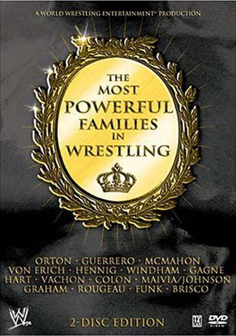 The Most Powerful Families In Wrestling (WWE) DVD Movie