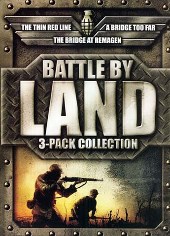 Battle by Land Movie Collection (Bridge At Remagen / Bridge Too Far / Thin Red Line) (Boxset) DVD Movie