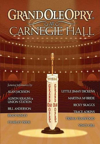 Grand Ole Opry at Carnegie Hall DVD Movie