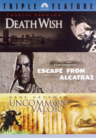 Death Wish / Escape From Alcatraz / Uncommon Valor (Triple Feature) (Boxset) DVD Movie