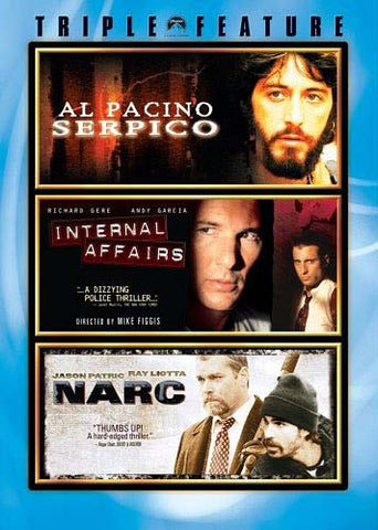 Serpico / Internal Affairs / Narc (Triple Feature) DVD Movie