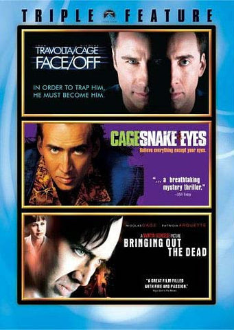 Face/Off/Snake Eyes/Bringing Out the Dead (Triple Feature) (Boxset) DVD Movie
