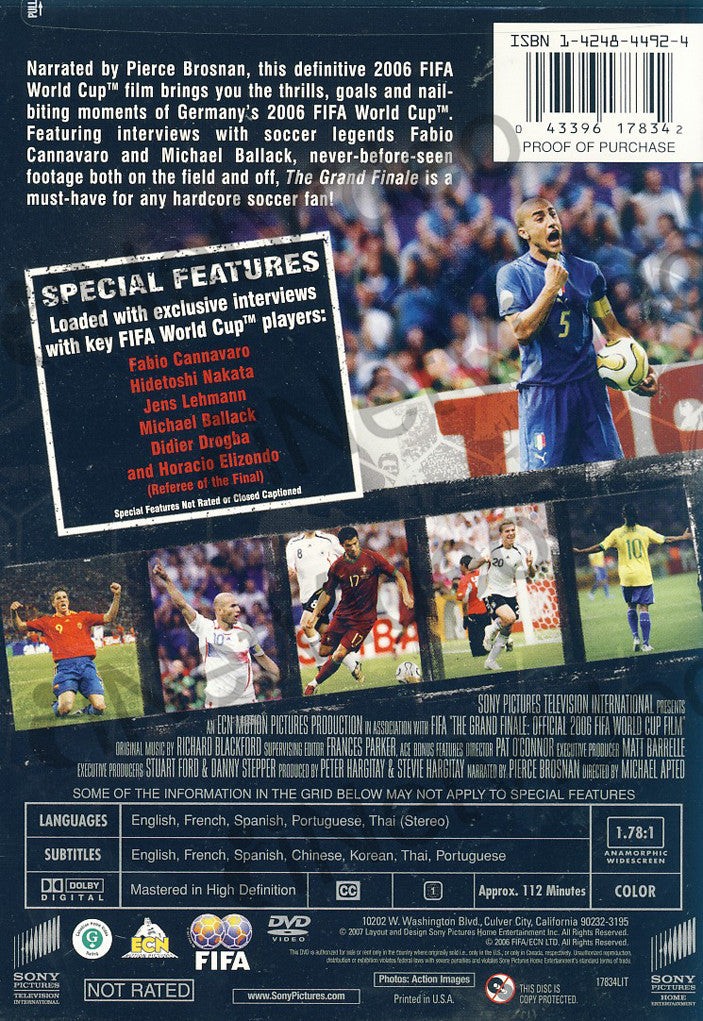 ... The 2006 Fifa World Cup Film   The Grand Finale DVD Movie ?
