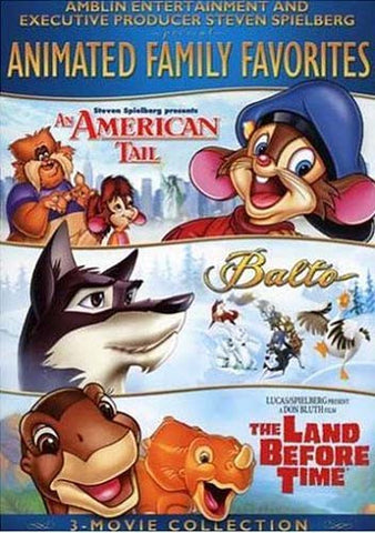 Animated Family Favorites 3-Movie Collection (An American Tail/Balto/The Land Before Time) DVD Movie