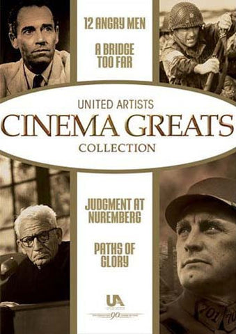 Cinema Greats (12 Angry Men/Bridge Too Far/Judgment At Nuremberg/Paths Of Glory) (Boxset) DVD Movie