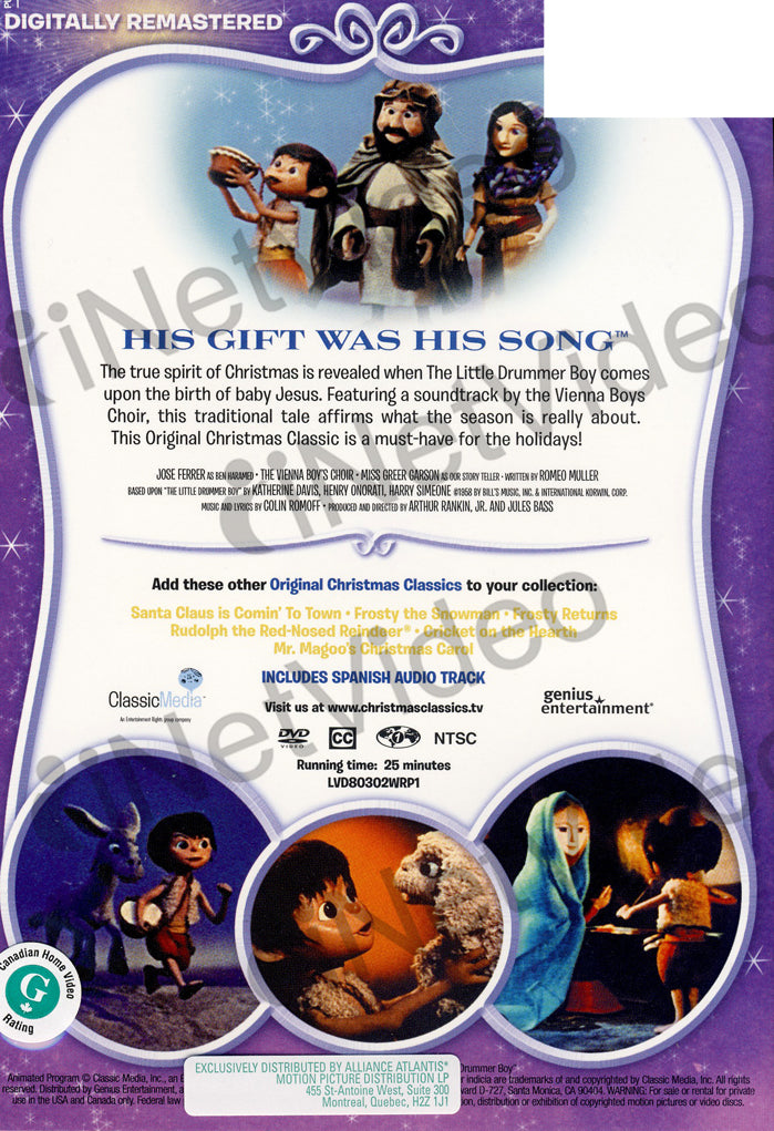the little drummer boy his gift was his song blue cover dvd movie