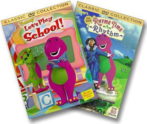 Barney DVD Collection (Barney's Let's Play School/Barney's Rhyme Time Rhythm) (2 Pack) DVD Movie