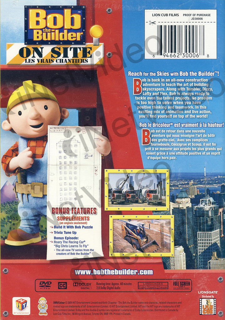 Bob the builder on site skyscrapers on dvd movie for Questions to ask a builder when buying a new home