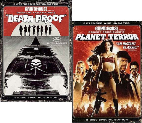 Death Proof / Planet Terror (Extended And Unrated - 2 Disc) - Grindhouse Presents (2 Pack) (Boxset) DVD Movie