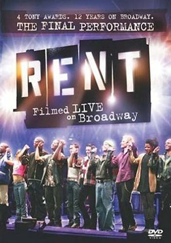 Rent - Filmed Live On Broadway DVD Movie