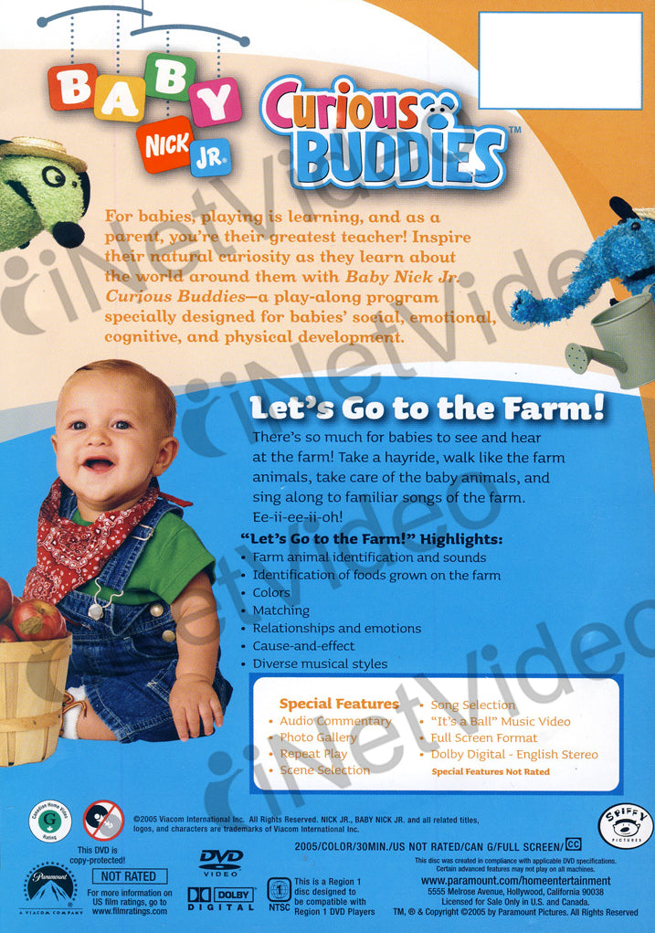 Baby Nick Jr - Let's Go to the Farm on DVD Movie