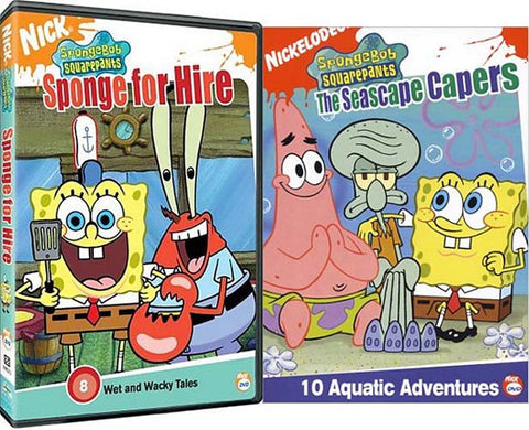 sale spongebob squarepants sponge for hire the seascape capers 2 pack dvd - Spongbob 2
