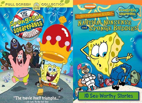 SpongeBob SquarePants - The Movie (Full Screen) / Nautical Nonsense and Sponge Buddies (2 Pack) DVD Movie