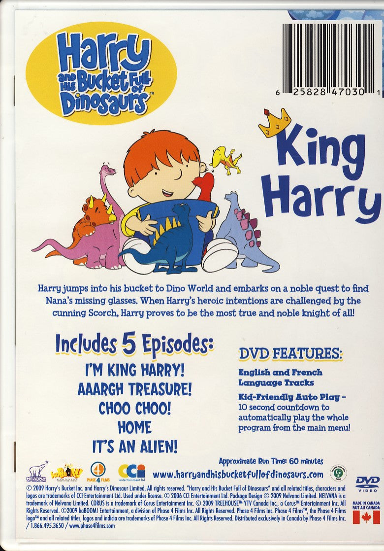 Harry And His Bucket Full Of Dinosaurs - King Harry on DVD Movie
