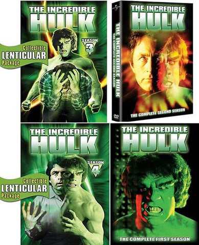 Incredible Hulk - The Complete Season 1 / 2 / 3 / 4 (4 Pack) (Boxset) DVD Movie