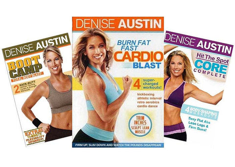 Denise Austin - (Boot Camp / Burn Fat Fast / Hit The Spot Core Complete) (3 Pack) (Boxset) DVD Movie