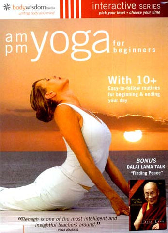 AM/PM Yoga For Beginners (With The Dalai Lama & 10 + Routines) DVD Movie