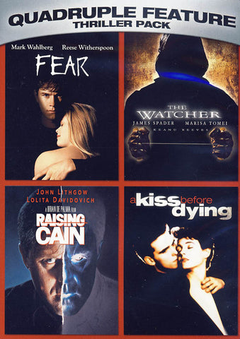 Fear / The Watcher / Raising Cain / A Kiss Before Dying (Quadruple Feature) (Black Spine) DVD Movie