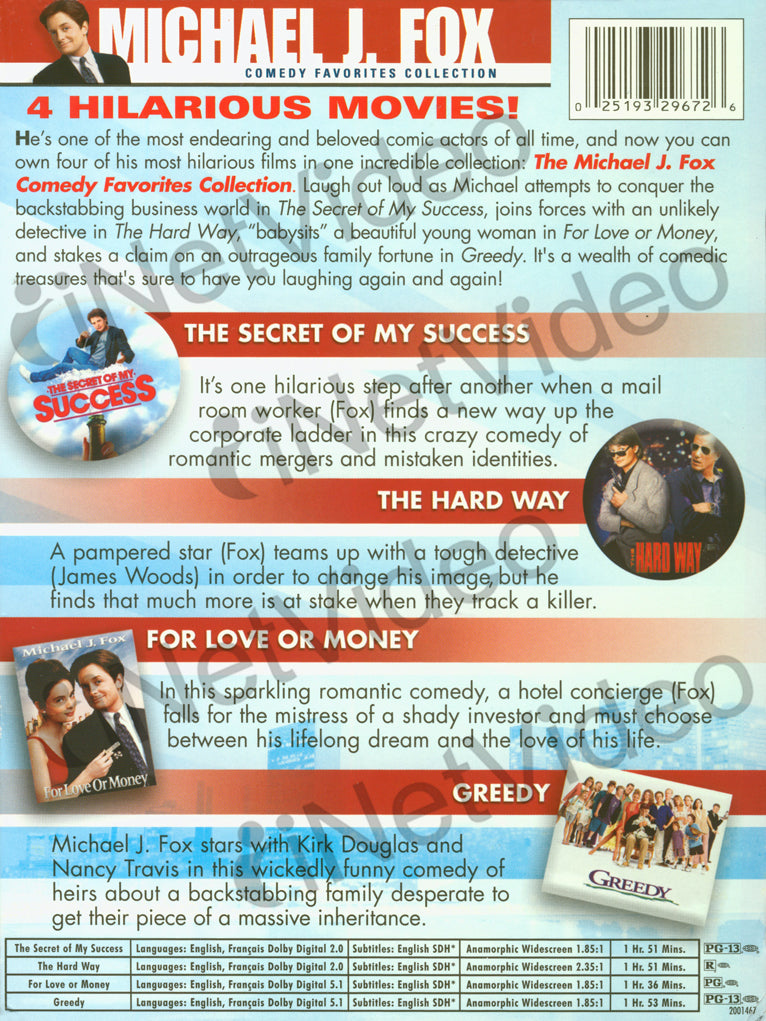 Michael J Fox Comedy Favourites Collection Boxset On Dvd Movie