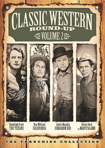 Classic Western Round Up - Vol. 2 (The Texans/California/The Cimarron Kid/The Man from the Alamo) DVD Movie