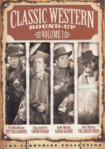 Classic Western Round Up - Vol. 1 (Texas Rangers / Canyon Passage / Kansas Raiders / Lawless Breed) DVD Movie