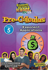 Standard Deviants School - Pre-Calculus Program 5 - Exponent Applications