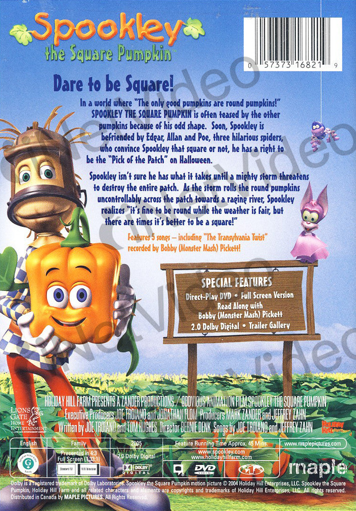 Spookley The Square Pumpkin On Dvd Movie