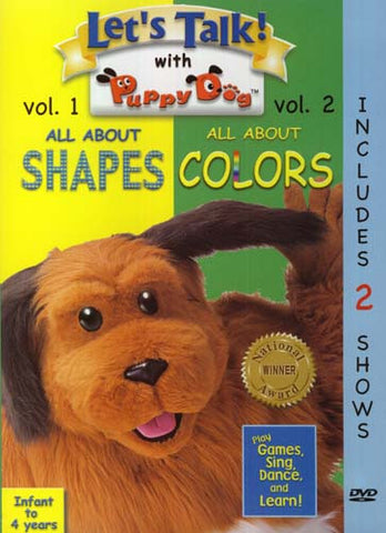 Let's Talk With Puppy Dog - All About Shapes/All About Colors (Vol.2) DVD Movie