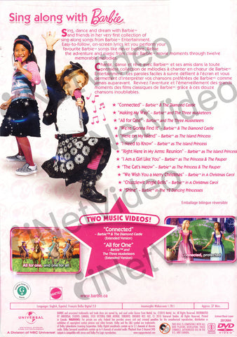Sing Along With Barbie (Bilingual) DVD Movie