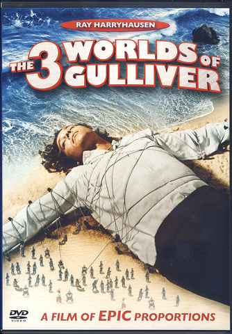 The 3 Worlds of Gulliver (2010 Cover Layout) DVD Movie