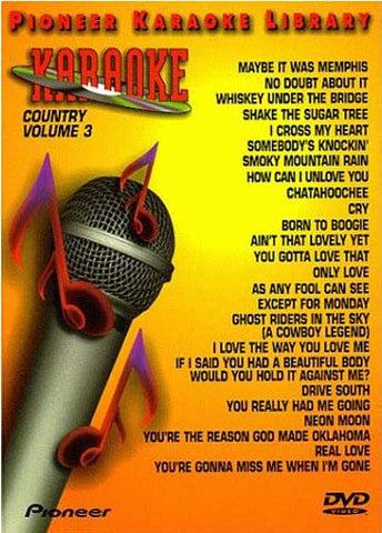 Pioneer Karaoke Library Country Volume 3 DVD Movie
