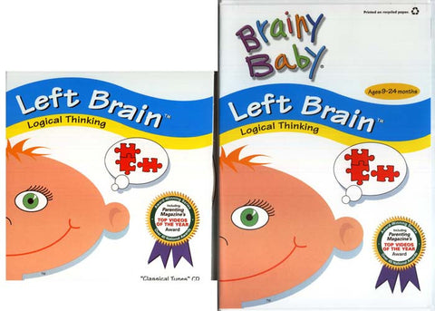 Brainy Baby - Left Brain - Logical Thinking (With Classical Tunes CD) (Do not enter in inventory) DVD Movie