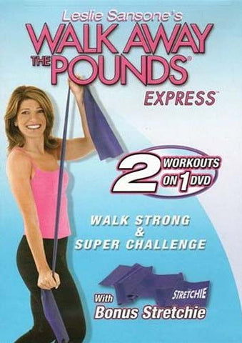 Leslie Sansone Walk Away the Pounds Express - Walk Strong And Super Challenge (with Bonus Stretchie) DVD Movie