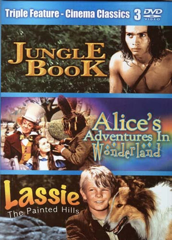 Jungle Book, Alice's Adventures In Wonderland, Lassie The Painted Hills (Triple Feature) (Boxset) DVD Movie