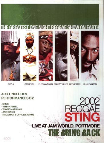 Reggae Sting 2002 - The Bring Back DVD Movie