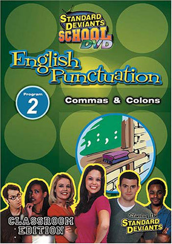 Standard Deviants School - English Punctuation - Program 2 - Commas and Colons (Classroom Edition) DVD Movie