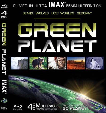 Green Planet - Imax - Bears/Wolves/Lost Worlds/Sedona (Blu Ray) (Boxset) DVD Movie