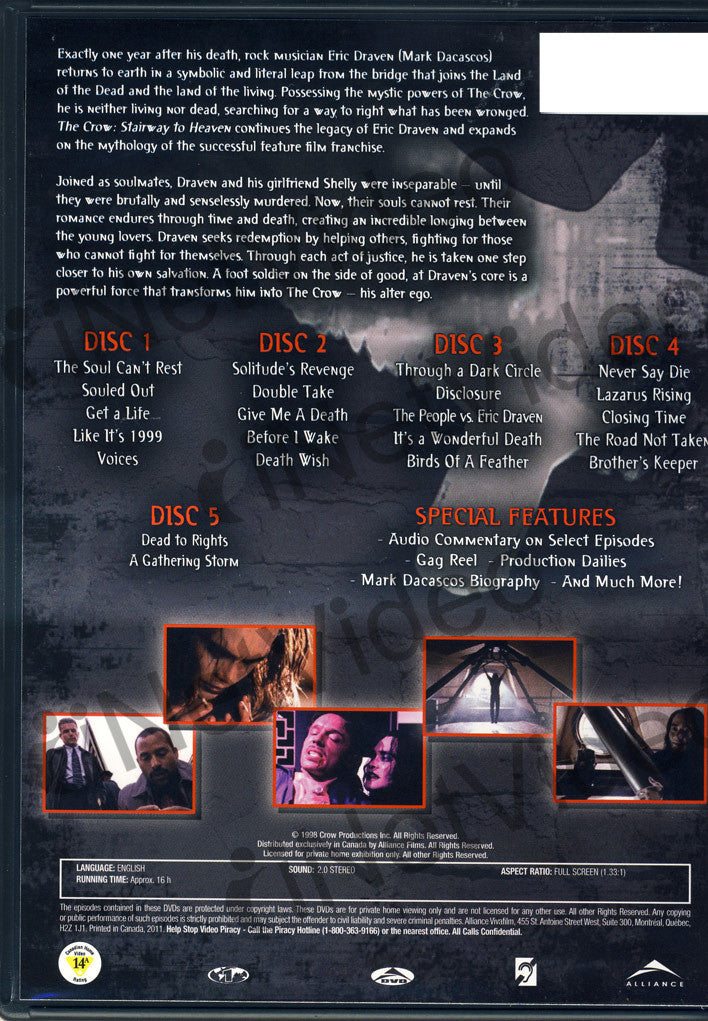The Crow (Stairway To Heaven) - The Complete Series on DVD Movie