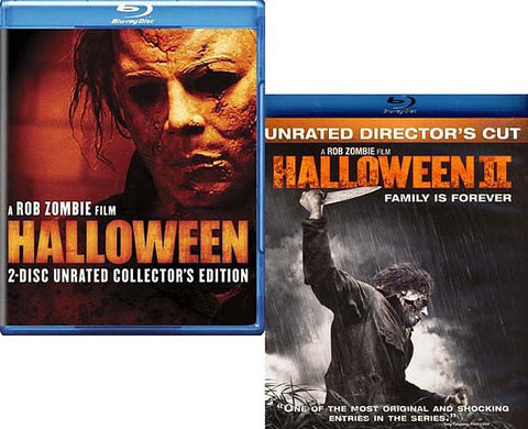 Halloween (2 Disc Collector's Edition)/Halloween II - Director's Cut (Blu-ray) Unrated (2 Pack) BLU-RAY Movie