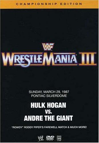WWE - Wrestlemania III (3) (Championship Edition) DVD Movie