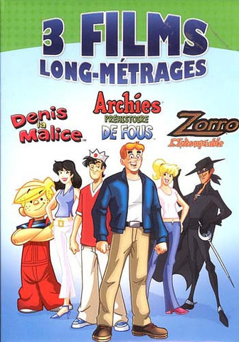 Denis la Malice / Archies Prehistoire de Fous / Zorro L'Indomptable (Boxset) DVD Movie