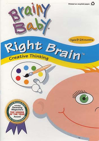 Brainy Baby - Right Brain - Creative Thinking (Ages 9 - 24 Months) (Do not enter in inventory) DVD Movie