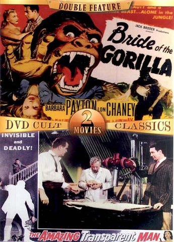 Bride of the Gorilla/The Amazing Transparent Man (Double Feature) DVD Movie