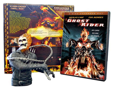 Ghost Rider Limited Edition Gift Set with Ghost Rider Figurine (Boxset) DVD Movie