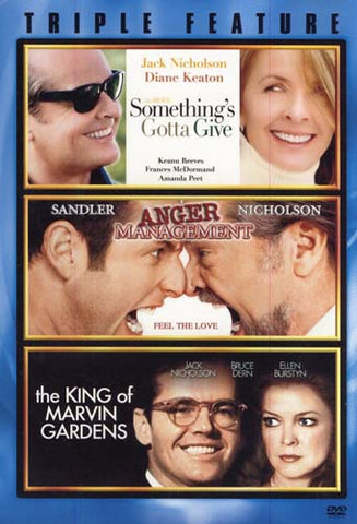 Something's Gotta Give / Anger Management / The King Of Marvin Gardens (Triple Feature) (Boxset) DVD Movie